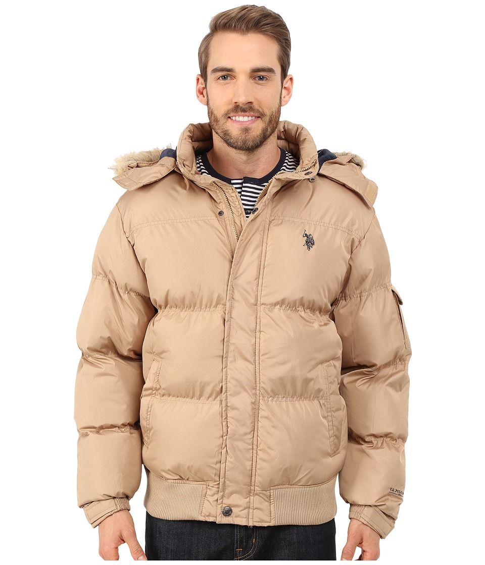 U.S. POLO ASSN. - Short Snorkel Jacket (Desert Khaki) Men's Coat