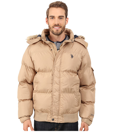 U.S. POLO ASSN. - Short Snorkel Jacket (Desert Khaki) Men