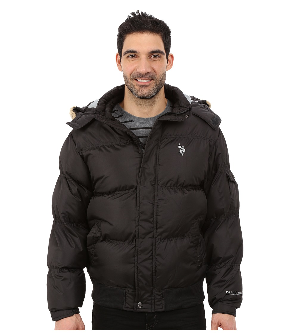 U.S. POLO ASSN. - Short Snorkel Jacket (Black) Men's Coat