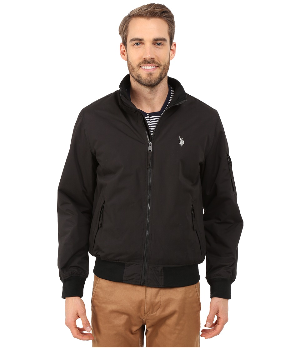U.S. POLO ASSN. - Rib Bomber Jacket (Black) Men's Coat