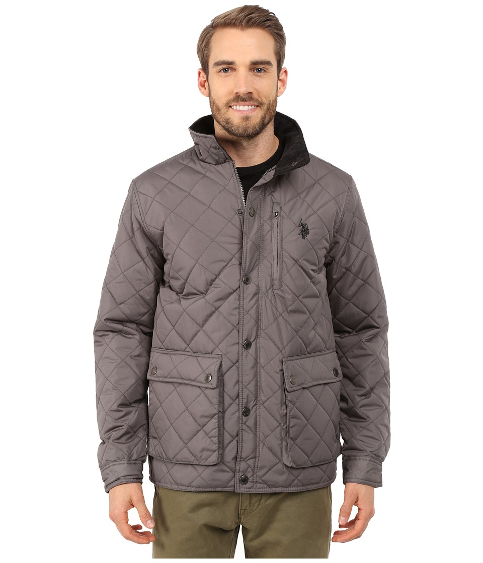 U.S. POLO ASSN. - Diamond Quilted Jacket (Castle Rock) Men's Coat