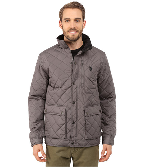 U.S. POLO ASSN. - Diamond Quilted Jacket (Castle Rock) Men's Coat
