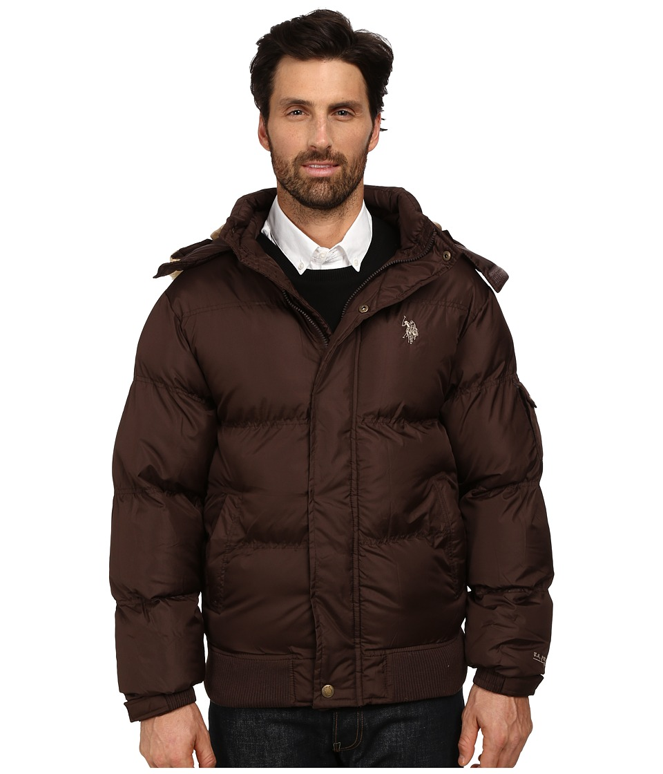 U.S. POLO ASSN. - Short Snorkel Jacket (Dark Brown) Men's Coat