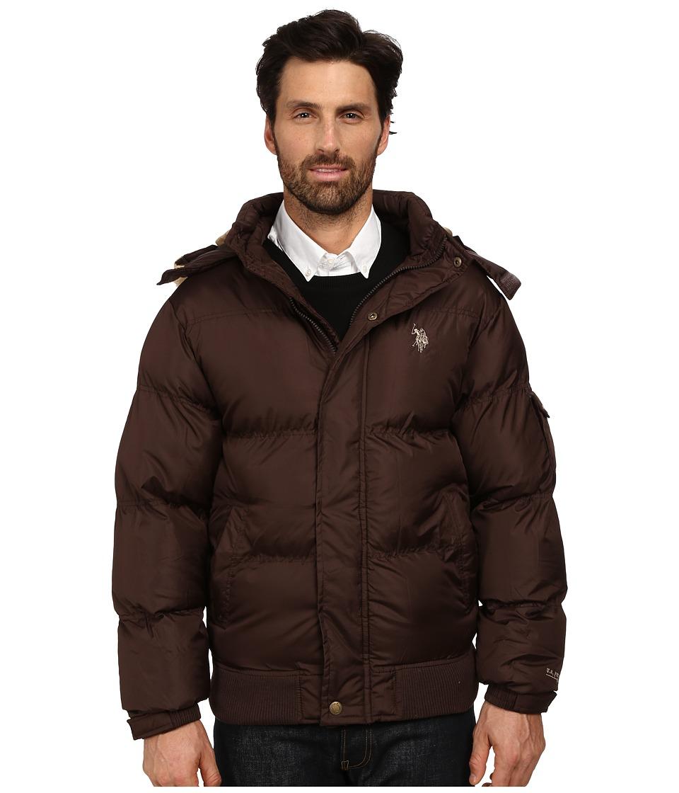 U.S. POLO ASSN. - Short Snorkel Jacket (Dark Brown) Men's Coat
