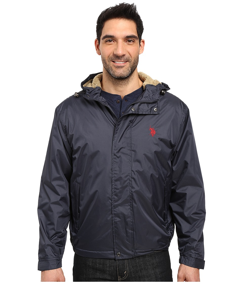 U.S. POLO ASSN. - Hooded Windbreaker (Classic Navy) Men's Coat