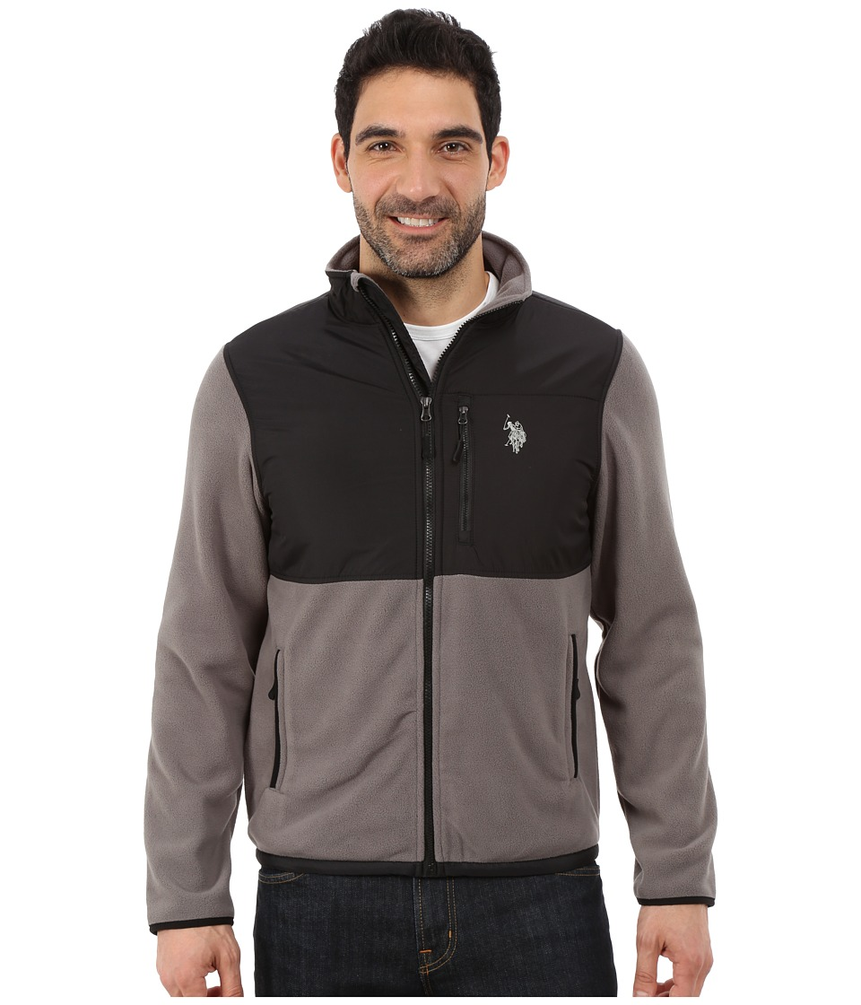 U.S. POLO ASSN. Polar Fleece Mock Neck Jacket (Castle Rock) Men