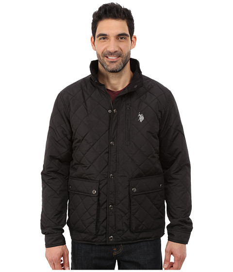 U.S. POLO ASSN. - Diamond Quilted Jacket (Black) Men's Coat