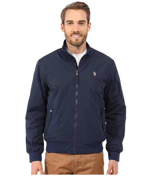 U.S. POLO ASSN. - Rib Bomber Jacket (Classic Navy) Men
