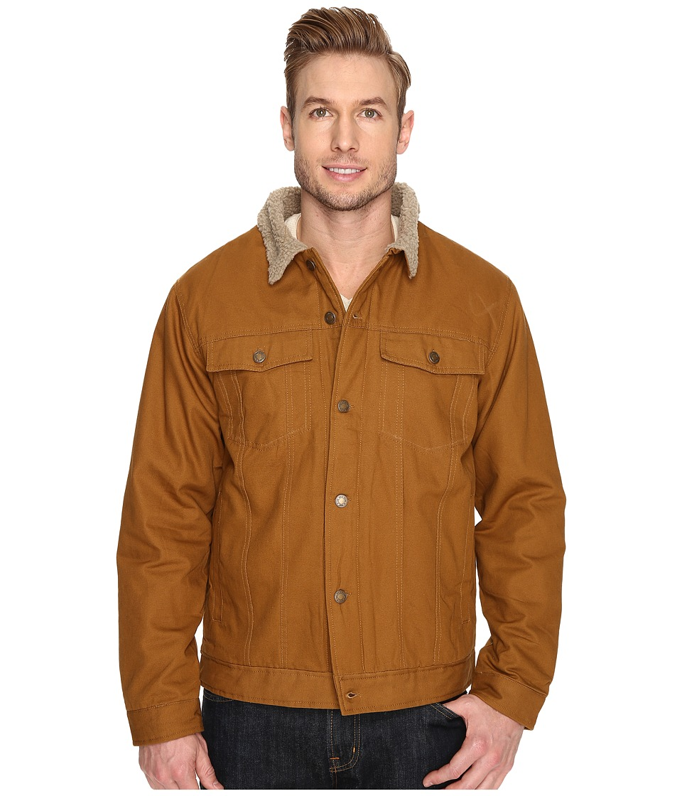 U.S. POLO ASSN. - PU Trucker Jacket (Tobacco Brown) Men's Coat
