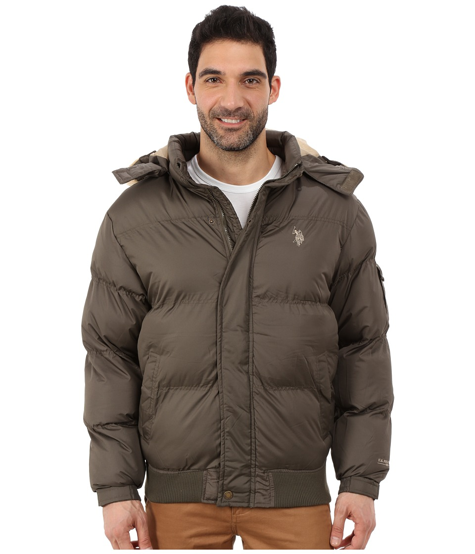 U.S. POLO ASSN. - Short Snorkel Jacket (Forest Night) Men's Coat