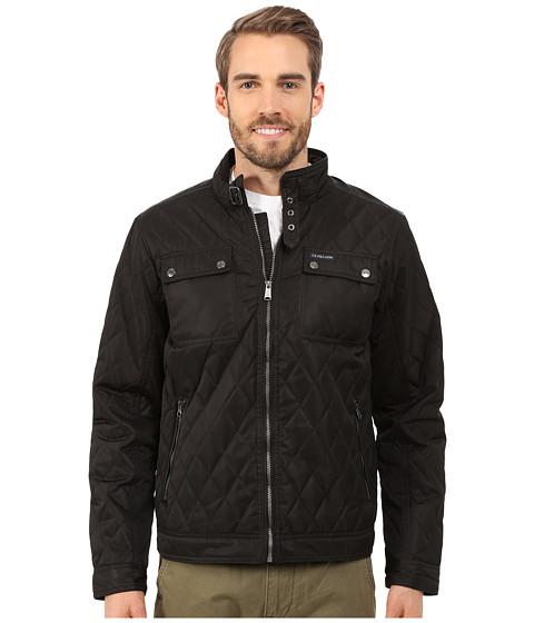 U.S. POLO ASSN. - Mock Neck Quilted Jacket (Black) Men's Coat