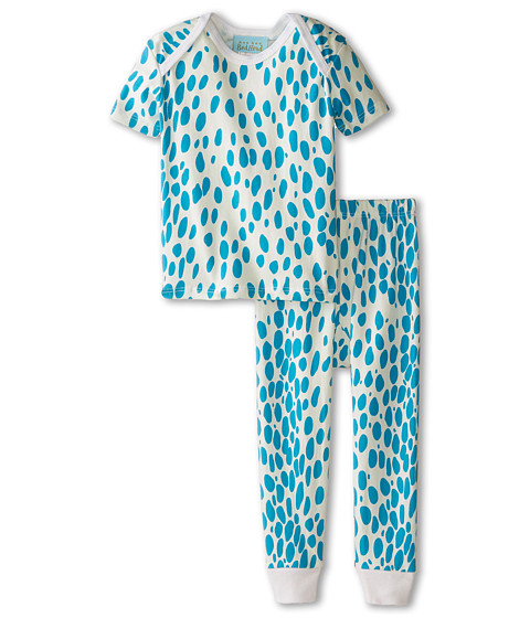 BedHead Kids - Short Sleeve Tee Pant Set (Infant) (Ivory Lynx) Girl's Pajama Sets