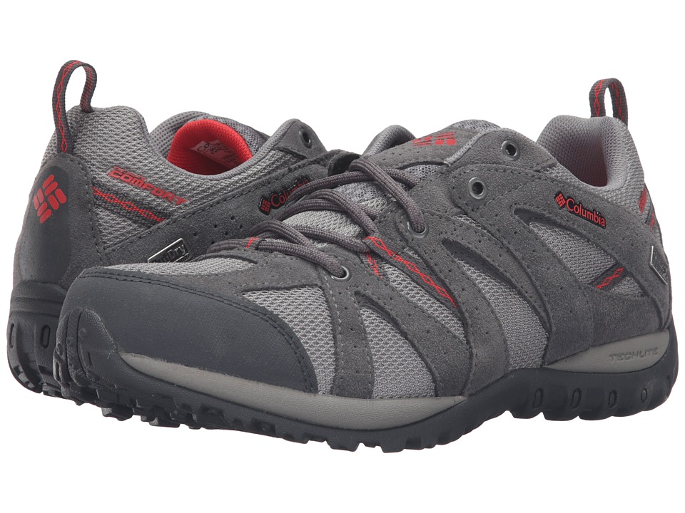 Columbia - Grand Canyontm Outdry(r) (Light Grey/Poppy Red) Women's Shoes