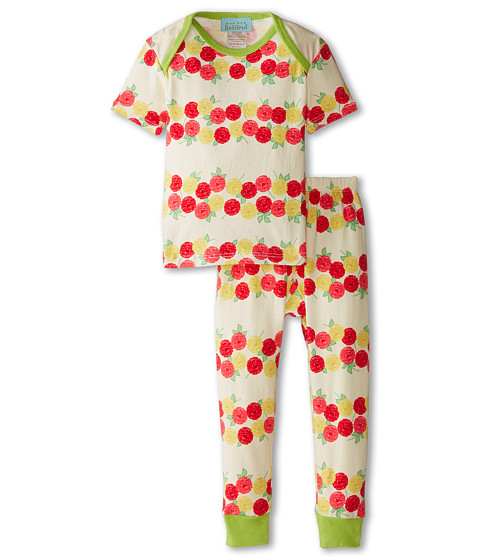 BedHead Kids - Short Sleeve Tee Pant Set (Infant) (Rows of Roses) Girl's Pajama Sets