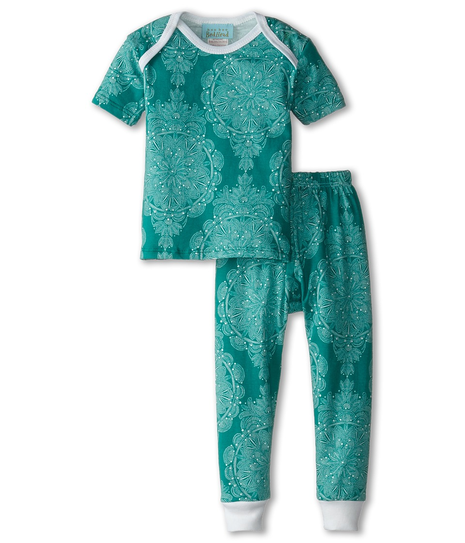 BedHead Kids - Short Sleeve Tee Pant Set (Infant) (Jade Mandala) Girl's Pajama Sets