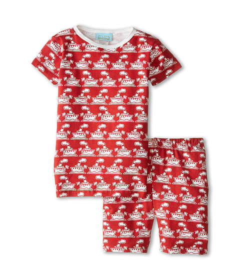 BedHead Kids - Short Sleeve Two-Piece Shorts Set (Toddler/Little Kids) (Red Steamboat) Boy's Pajama Sets