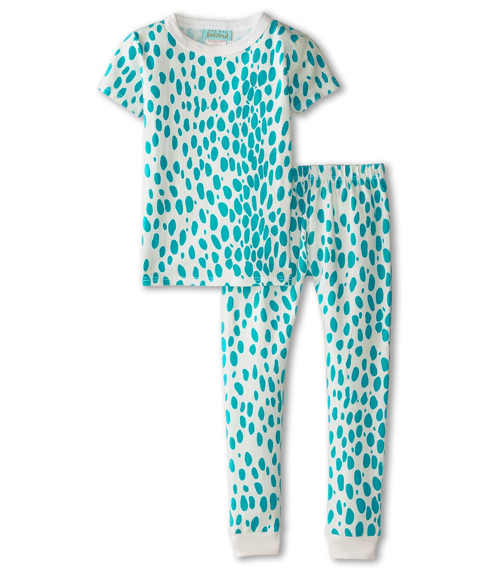BedHead Kids - Short Sleeve Snug PJ (Toddler/Little Kids) (Ivory Lynx) Girl's Pajama Sets