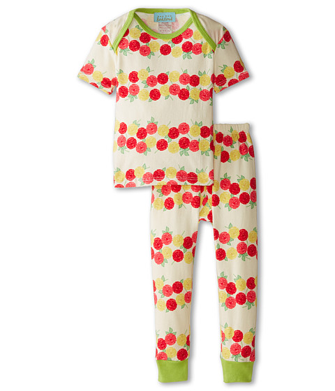 BedHead Kids - Short Sleeve Snug PJ (Toddler/Little Kids) (Rows of Roses) Girl