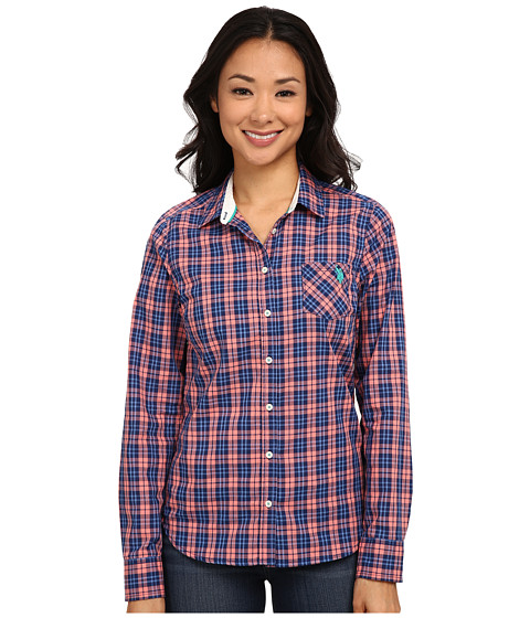 U.S. POLO ASSN. - Plaid Poplin Shirt (Shell Pink) Women's Clothing