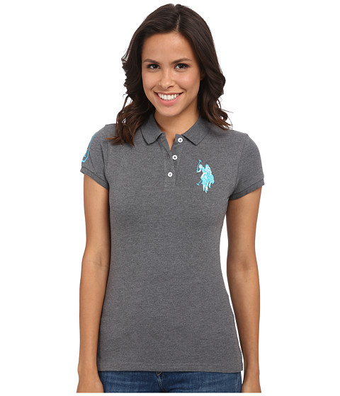 U.S. POLO ASSN. - Multi-tonal BP Polo (Heather Charcoal) Women