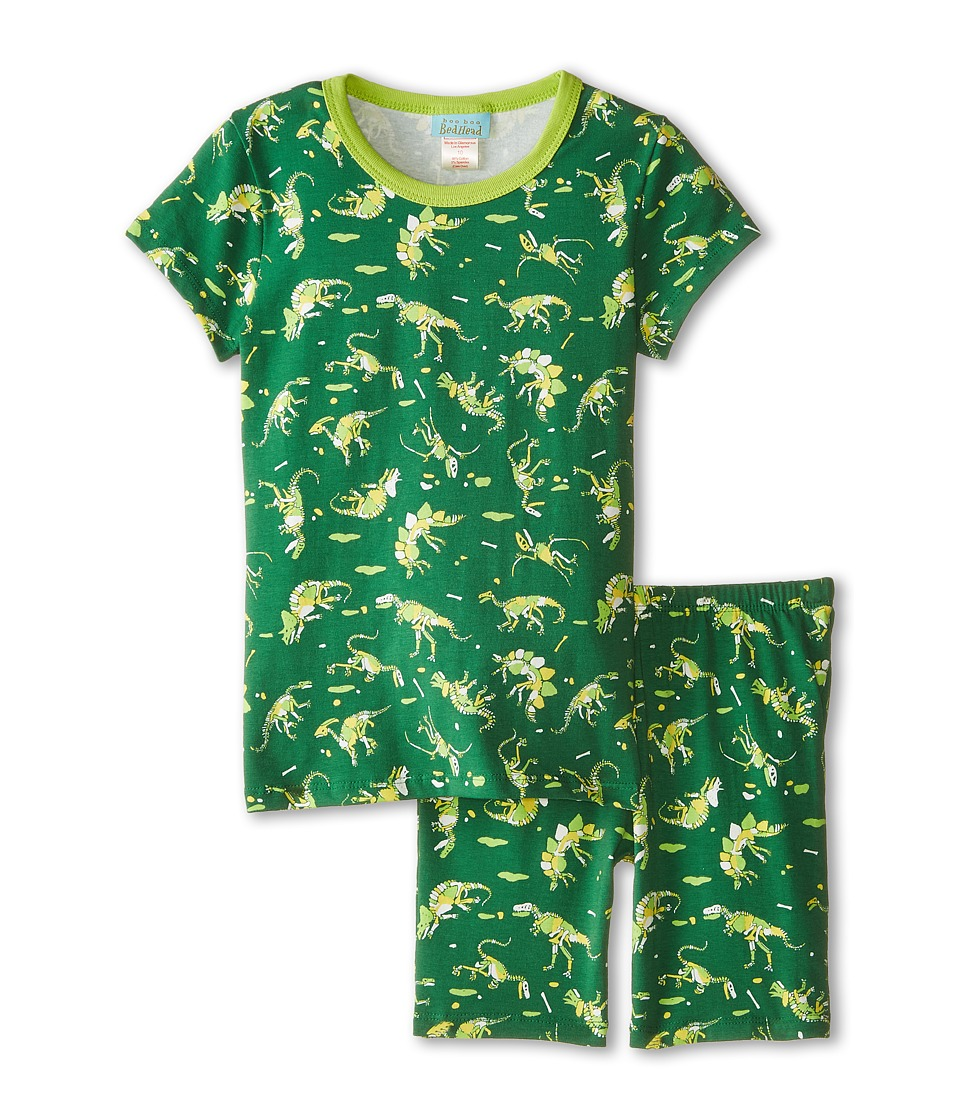 BedHead Kids - Tweens Short Sleeve Two-Piece Shorts Set (Big Kids) (Neon Dinosaur) Boy's Pajama Sets