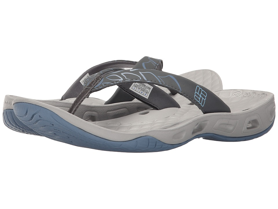 Columbia - Sunbreeze Vent Flip (Dark Fog/Sky Blue) Women's Shoes
