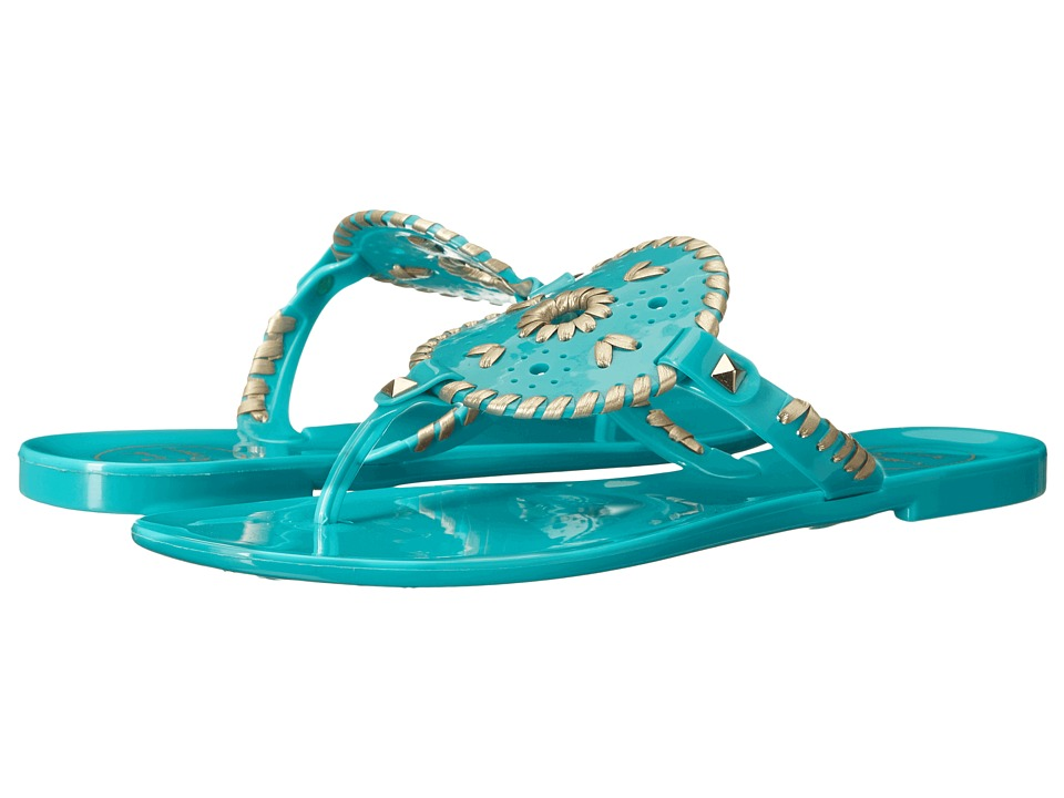Jack Rogers - Georgica Jelly (Caribbean Blue/Gold) Women's Sandals
