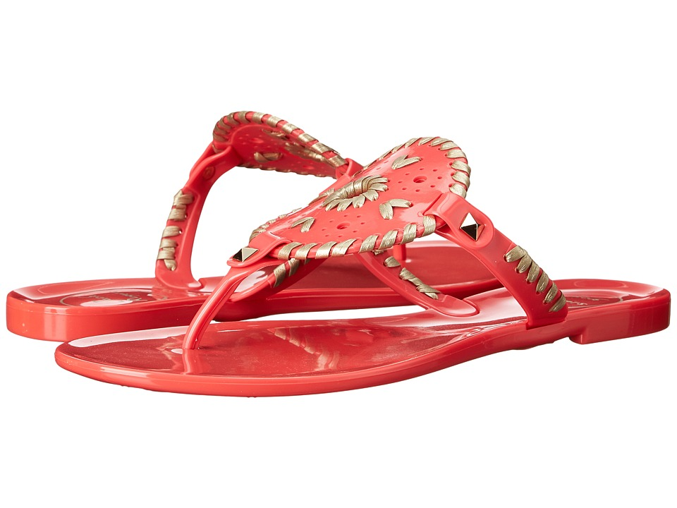 Jack Rogers - Georgica Jelly (Bright Pink/Gold) Women's Sandals