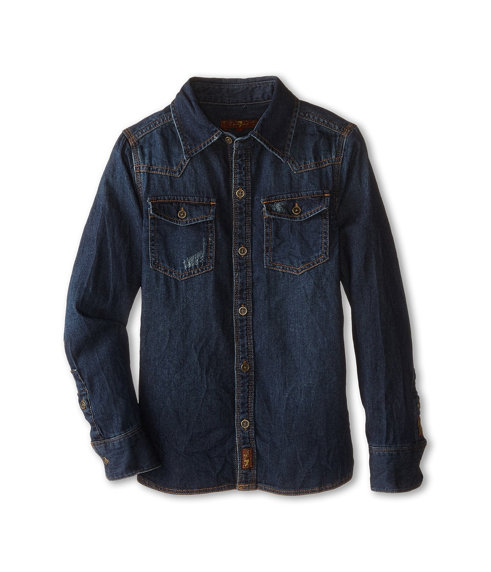 7 For All Mankind Kids - Denim Shirt (Big Kids) (Bonzai Blue) Boy's Clothing