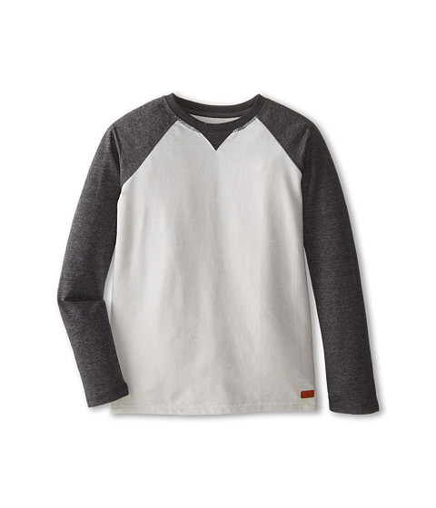 7 For All Mankind Kids - Long Sleeve Terry Tee (Big Kids) (Heather Grey) Boy