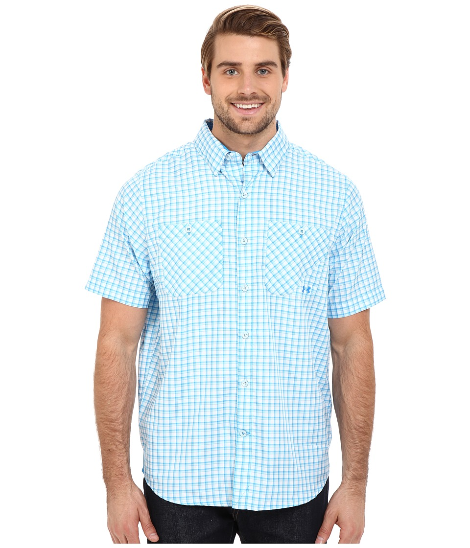 Under Armour - UA Chesapeake 2 Short Sleeve Plaid (Electric Blue 1) Men's Clothing