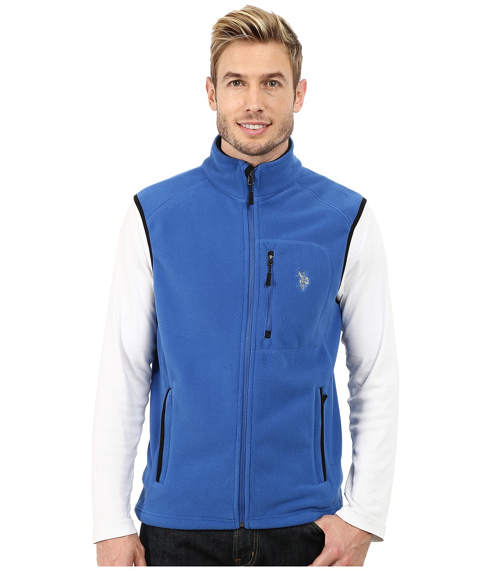 U.S. POLO ASSN. - Polar Fleece Vest (Core Blue) Men's Vest