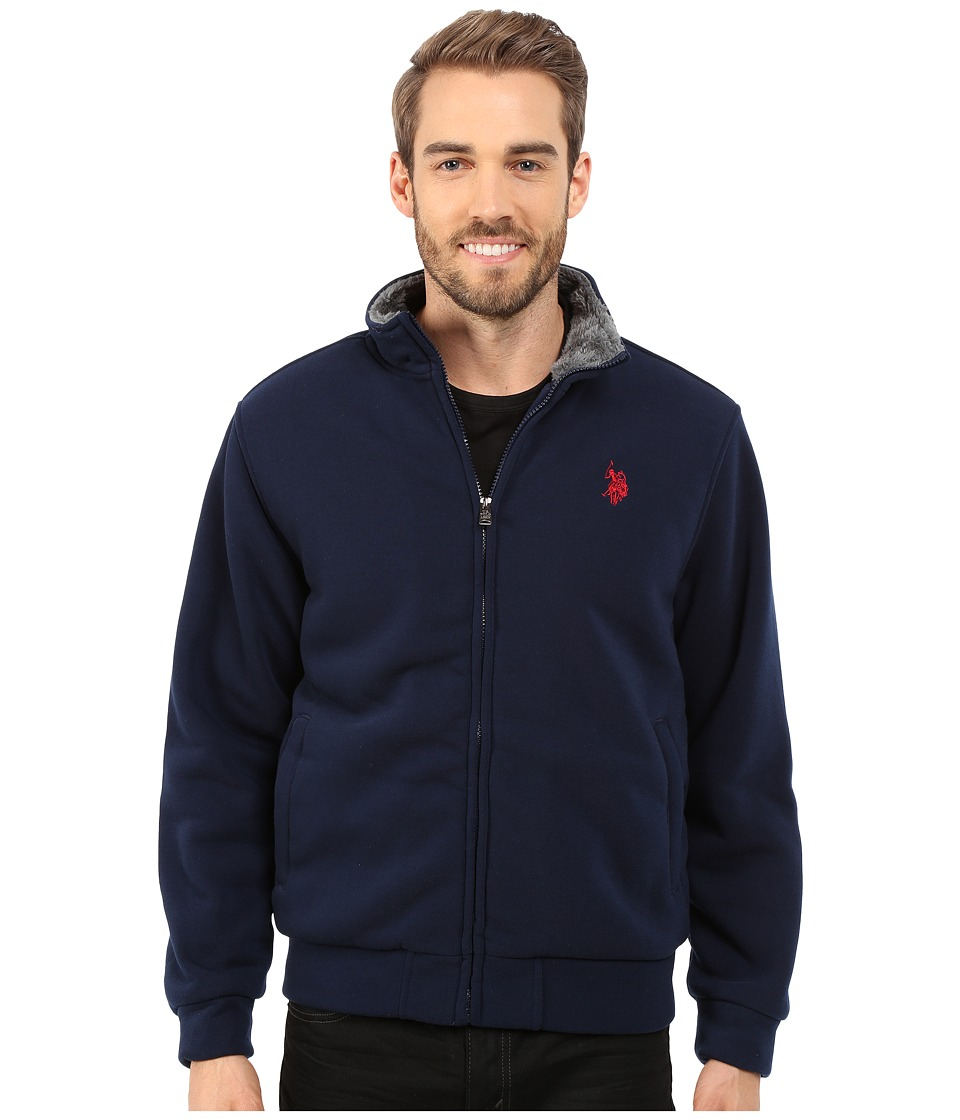 U.S. POLO ASSN. Sherpa Lined Fleece Jacket (Classic Navy) Men