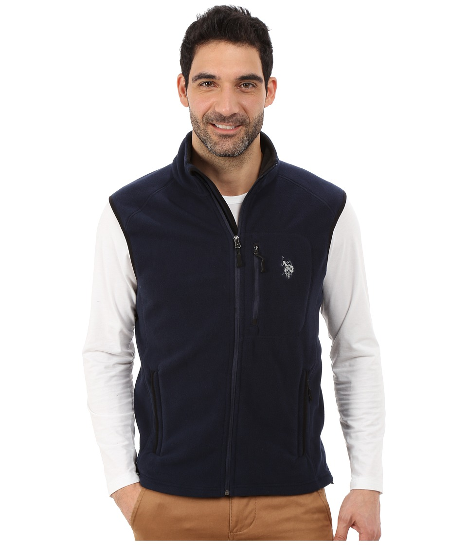 U.S. POLO ASSN. - Polar Fleece Vest (Classic Navy) Men