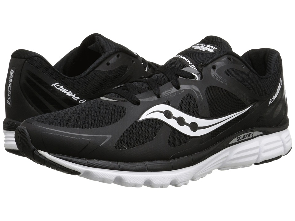 Saucony - Kinvara 6 (Black/White) Men's Running Shoes