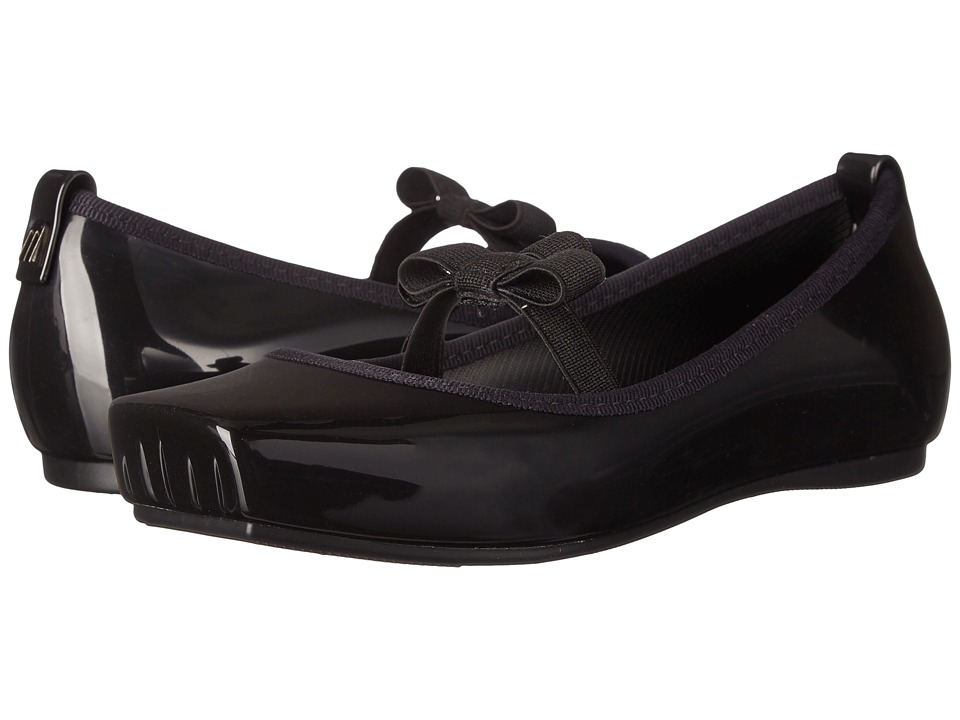 Mini Melissa - Mel Ballet Bow (Little Kid/Big Kid) (Black) Girl's Shoes