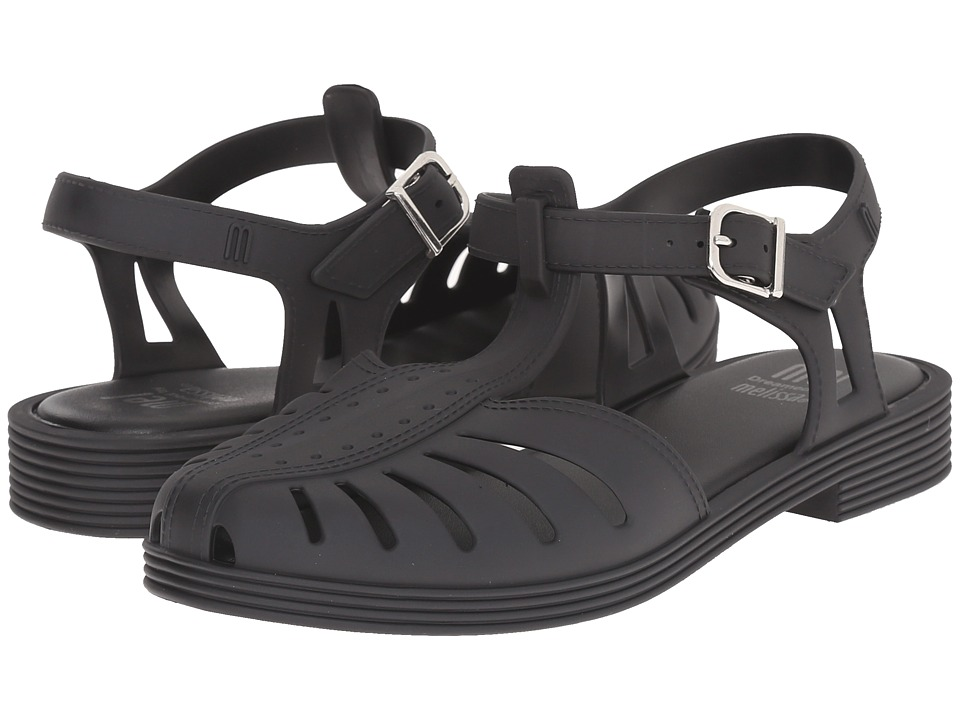 Mini Melissa - Mel Aranha 1979 (Little Kid/Big Kid) (Black) Girl's Shoes