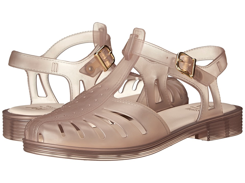 Mini Melissa - Mel Aranha 1979 (Little Kid/Big Kid) (Clear Beige) Girl's Shoes