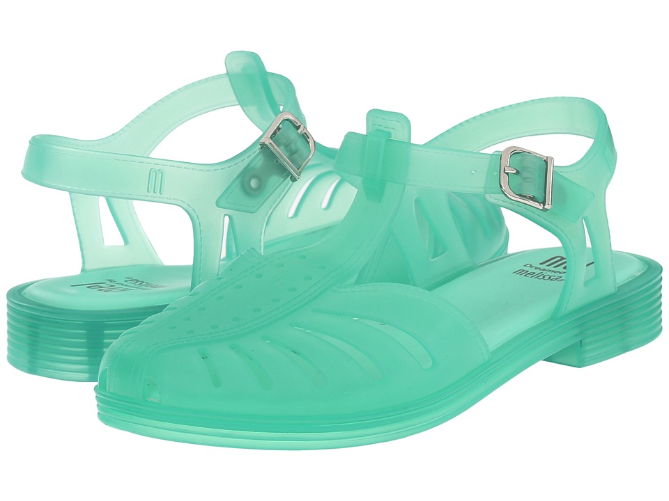 Mini Melissa - Mel Aranha 1979 (Little Kid/Big Kid) (Clear Green) Girl's Shoes