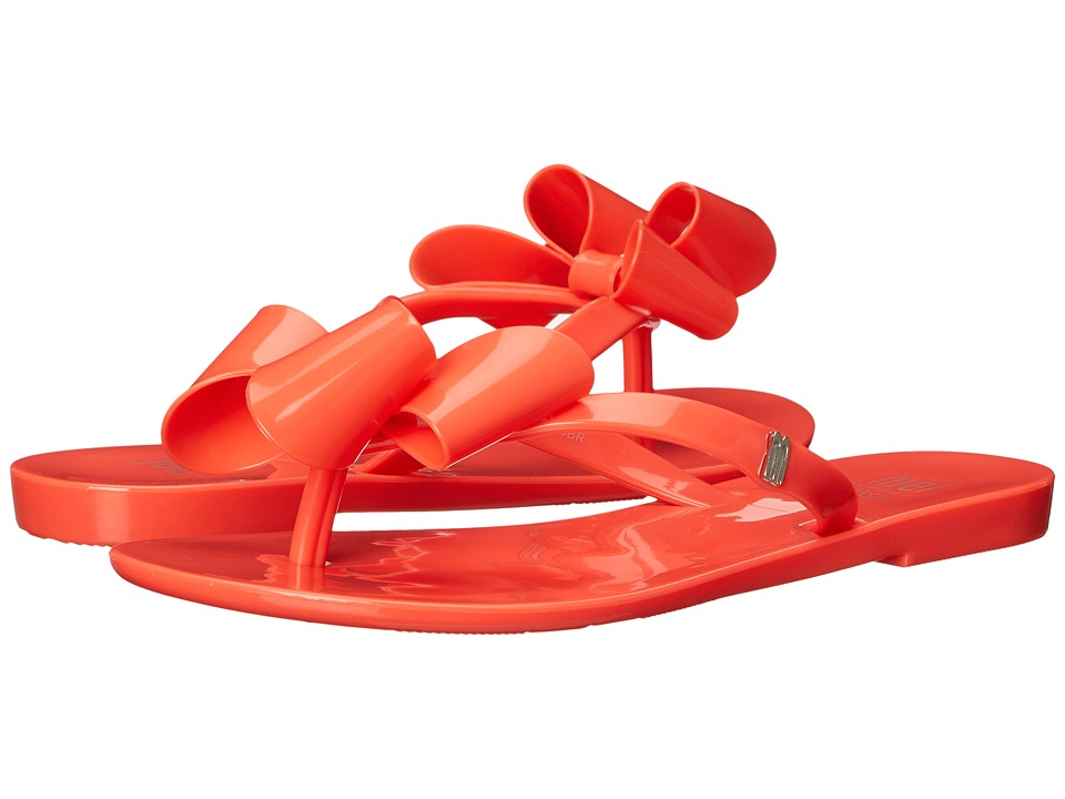 Mini Melissa - Mel Harmonic Bow (Little Kid) (Neon Orange) Girl's Shoes