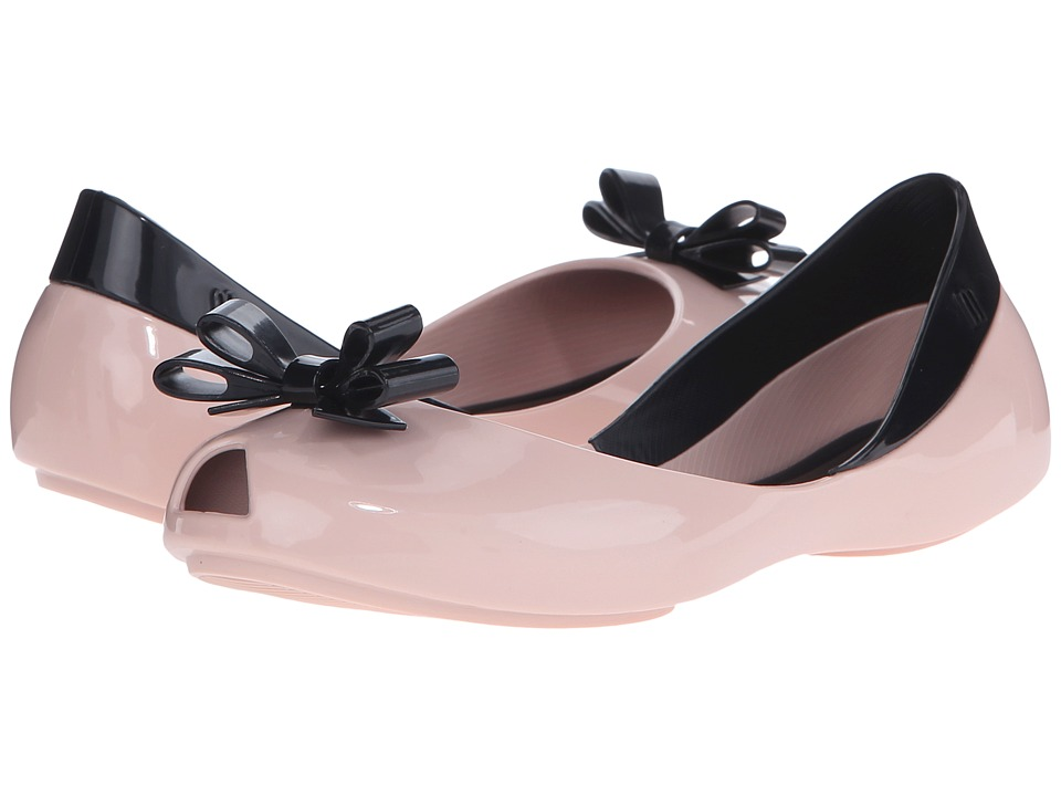 Mini Melissa - Mel Queen (Little Kid/Big Kid) (Pink/Black) Girl's Shoes