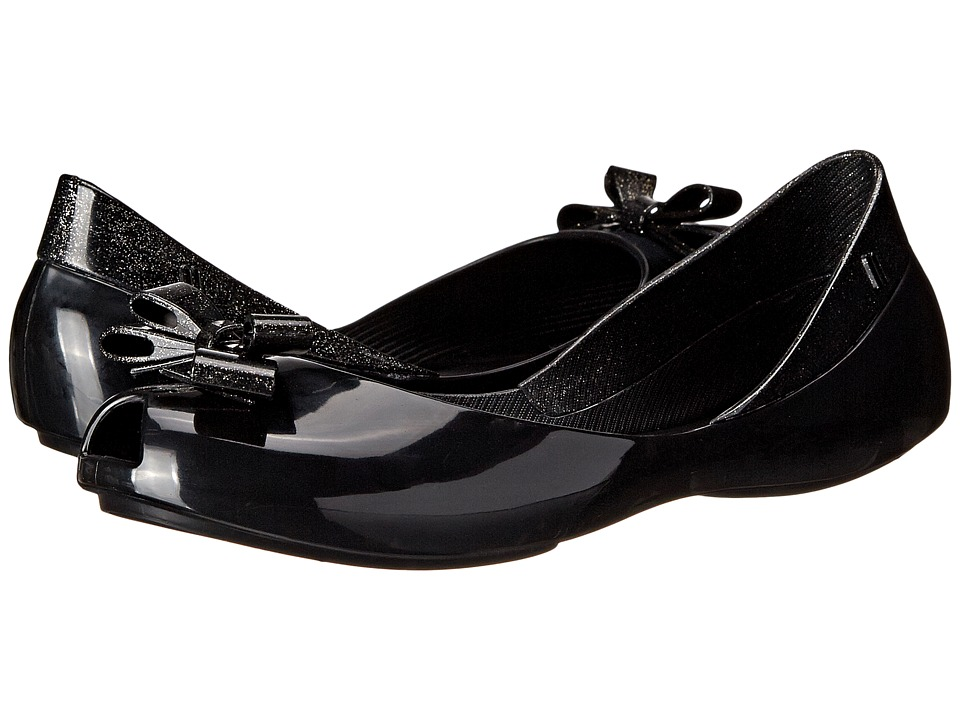 Mini Melissa - Mel Queen (Little Kid/Big Kid) (Black) Girl's Shoes