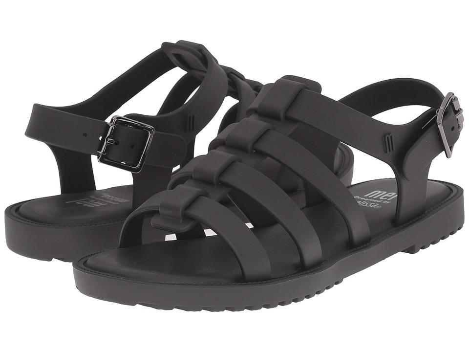 Mini Melissa - Mel Flox (Little Kid) (Black) Girl's Shoes