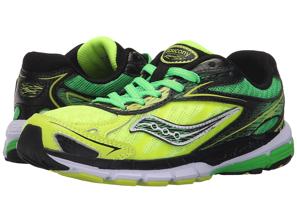 Saucony Kids - Ride 8 (Little Kid/Big Kid) (Green/Citron) Boys Shoes