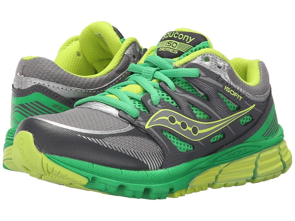 Saucony Kids - Zealot (Little Kid) (Grey/Green/Citron) Boys Shoes