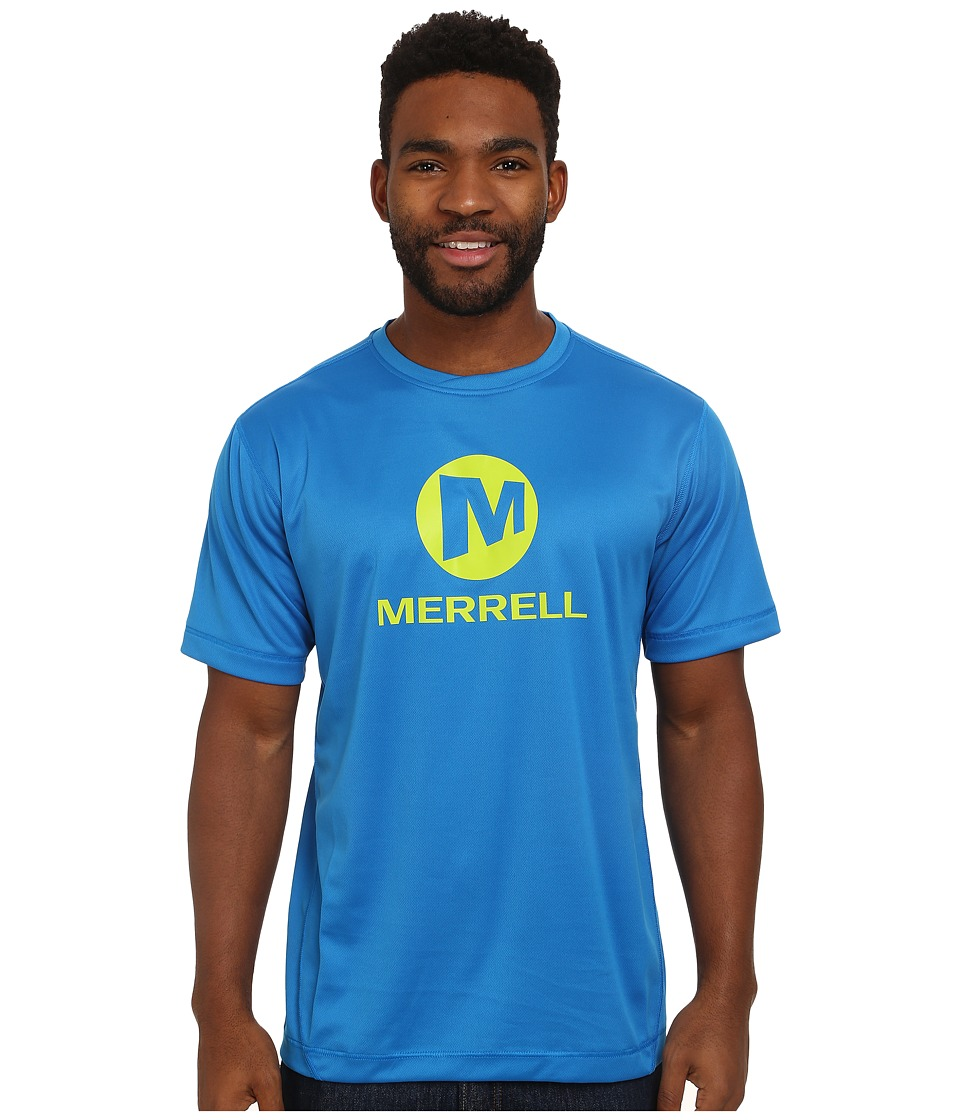 Merrell - Stacked Logo Tech Tee (Directoire Blue) Men