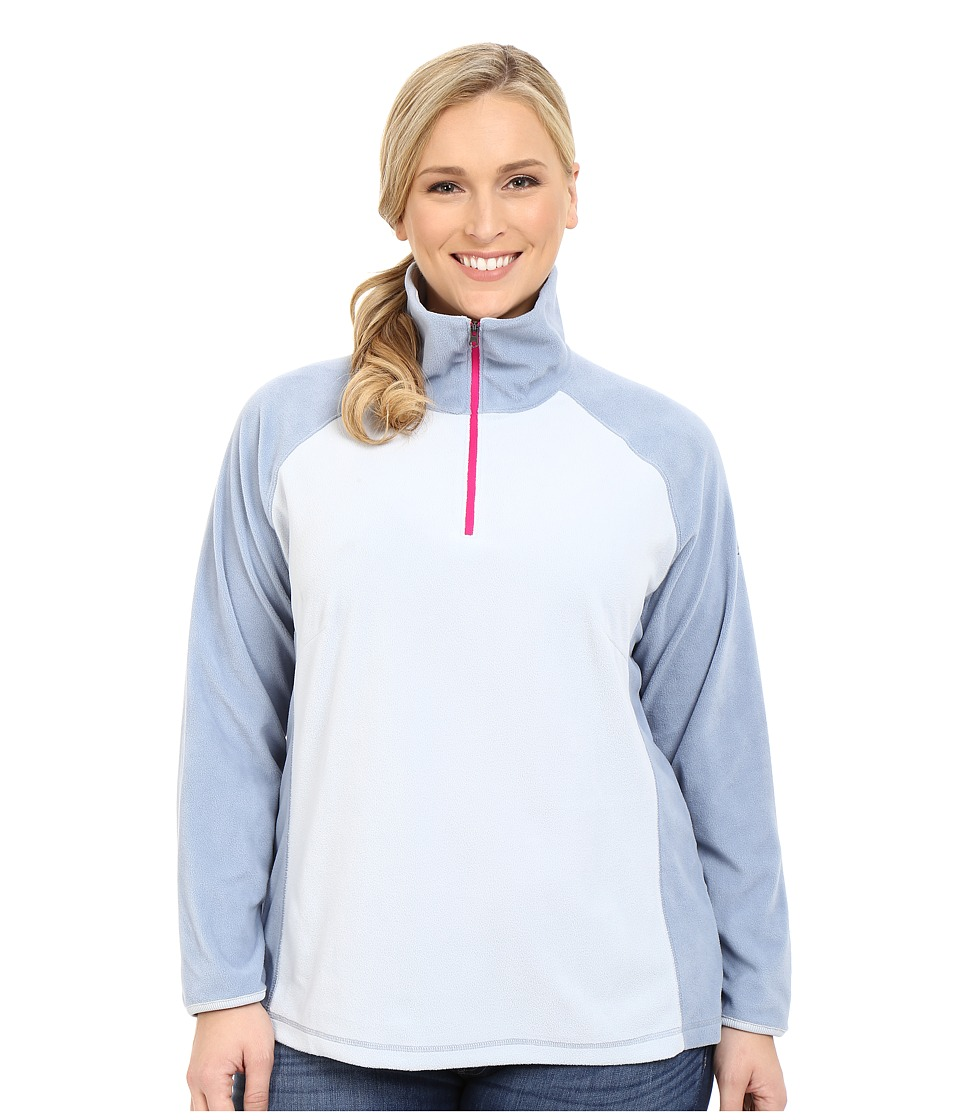 Columbia - Plus Size Glacial Fleece III 1/2 Zip (Cirrus Grey/Beacon) Women's Fleece