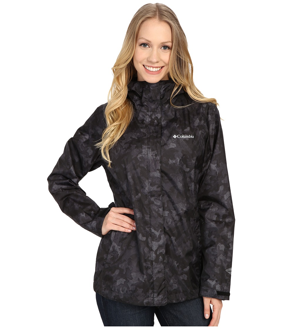 Columbia - Arcadia Print Jacket (Black Camo) Women's Coat