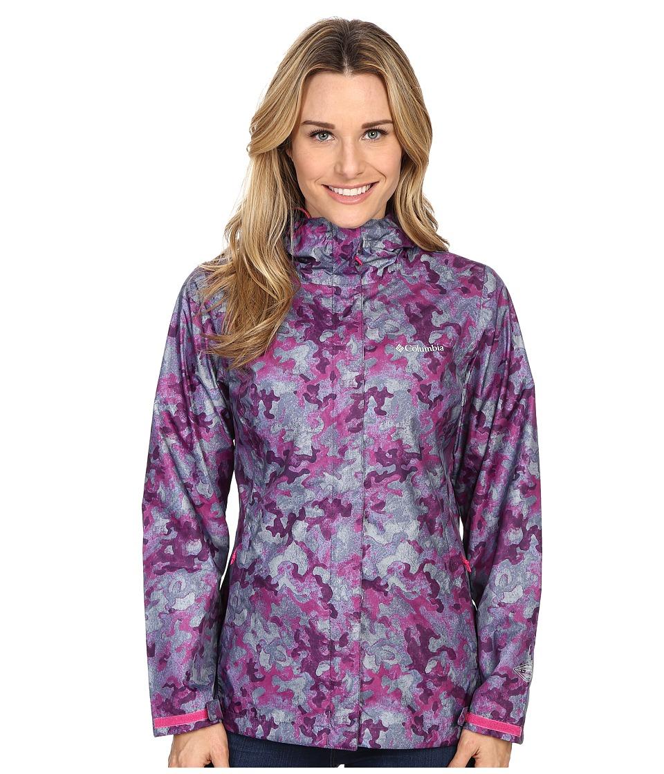Columbia - Arcadia Print Jacket (Haute Pink Camo) Women's Coat