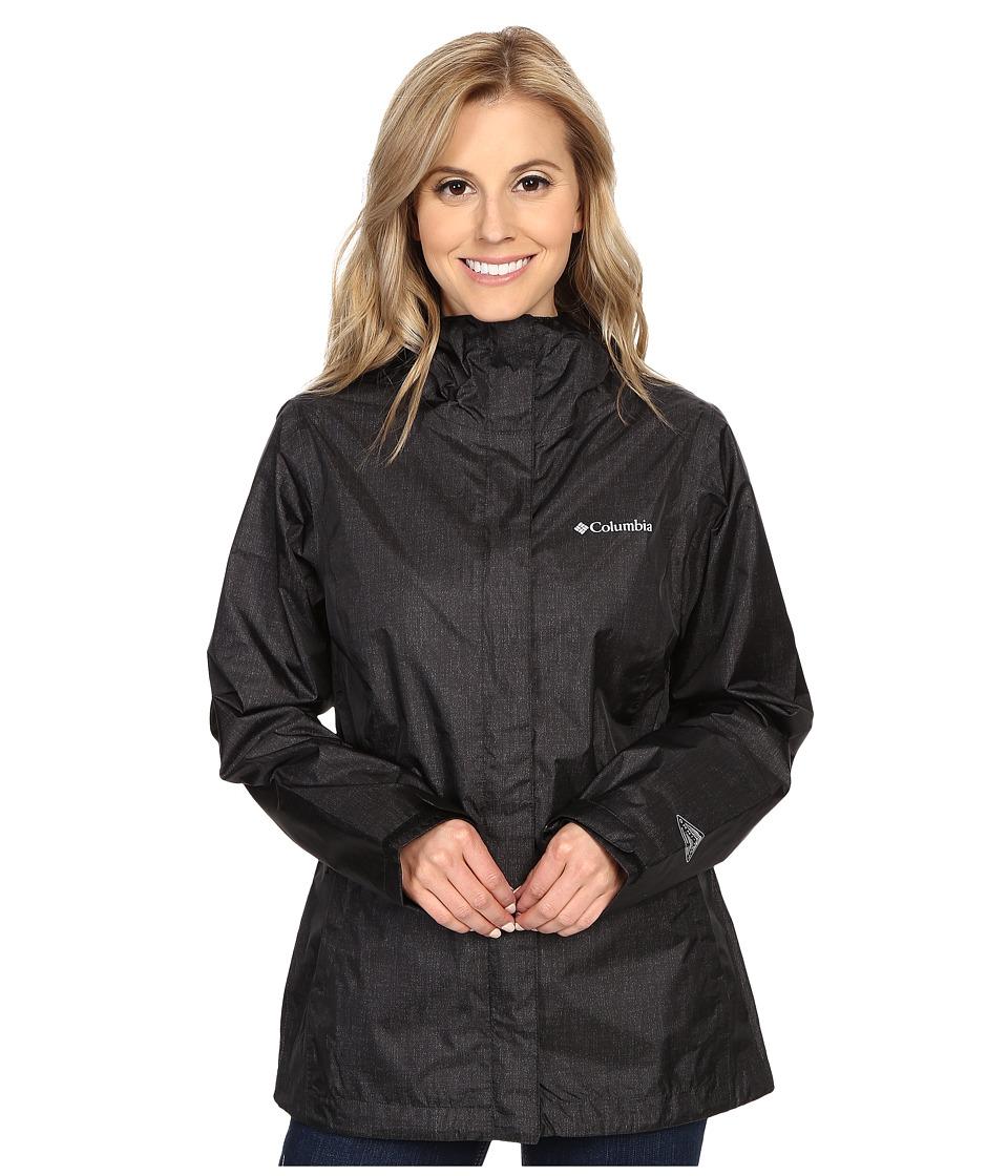 Columbia - Arcadia Print Jacket (Black Chambray) Women's Coat